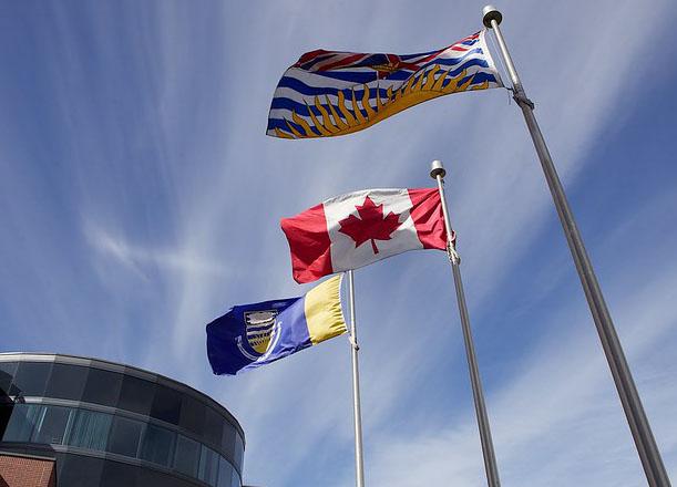UBC Okanagan flags
