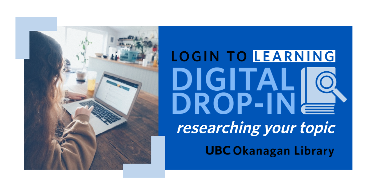 Digital drop-in Researching your topic