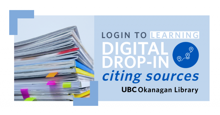 Digital Drop-In Citing Sources